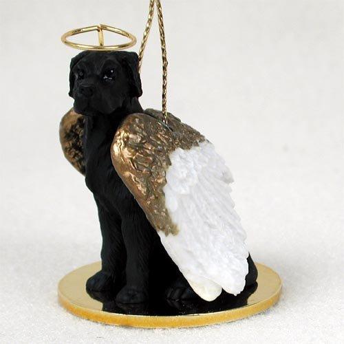Great Dane Black w/Uncropped Ears Pet Angel Ornament