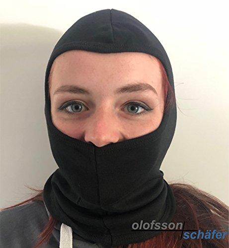 Olofsson-Schäfer Sturmhaube, Maske, schwarz, Motorrad, Quad, Kart, Ski, Snowboard, Paintball
