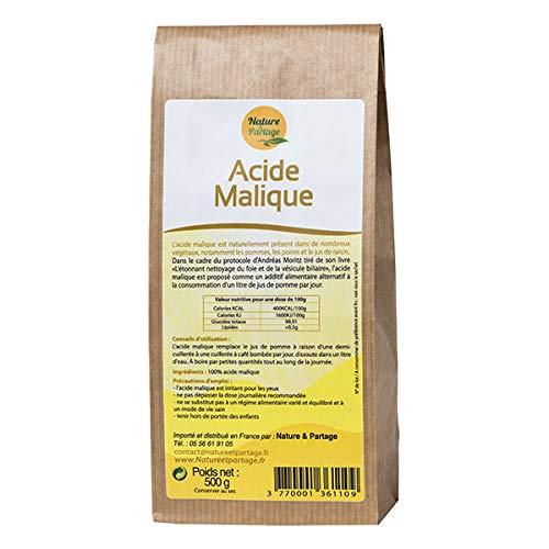 NATURE & PARTAGE - Acide Malique Cure De Nettoyage Du Foie D'Andreas Moritz 500G - L'unité