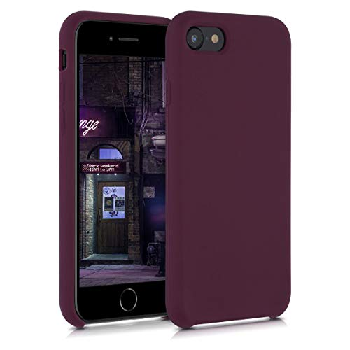 kwmobile Cover Compatibile con Apple iPhone 7/8 / SE (2020) - Custodia in Silicone TPU - Back Case Protezione Cellulare Viola Bordeaux