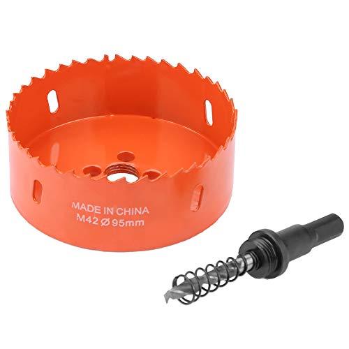 Sierra de agujero de 95 mm, flauta de viruta fuerte y resistente placa de instalación de chapa de metal suave M42 de acero de alta velocidad