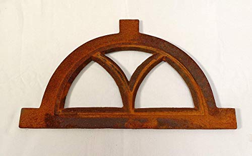 linoows Eisenfenster, Kleines Oberlicht, Halbrund Gusseisen Fenster, Stallfenster