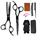 Professional Hair Scissor Hairdressing Barber- 9PCS Stainless Steel Hair Cutting Shears,Home Haircutting Barber
