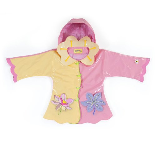 Kidorable Original Kinderregenjas, alle weersomstandigheden, waterbestendig, regenjas, lotusbloem, voor jongens en meisjes