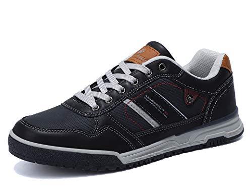 ARRIGO BELLO Zapatillas Hombre Zapatos de Casual Sneakers Vestir Deportivas Confort Jogging Transpirables Sneaker Talla 41-46(Azul Oscuro, 44)
