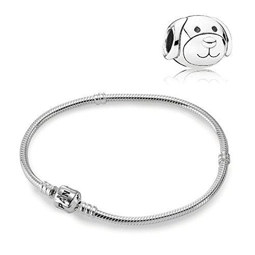 Pandora Original Geschenkset Starterset Charm 791707 Liebevoller Hund + Armband 590702HV-17