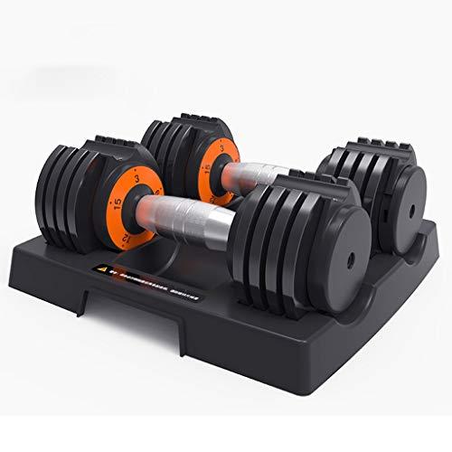 DXIUMZHP Hanteln Kurzhanteln Smart Fitness Hantel Männer Verstellbares Gewicht Haushalt Hantel Rack Set Einzelpaar Übungsarm Muskel 2,5-30 Lbs (Color : Black-1)
