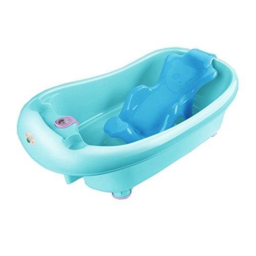 Anti-dérapant pliant bébé peut s'asseoir dans la baignoire multifonctionnel en plastique bébé baignoire confortable usure/stabilité Portable/matériel sécurité bleu, vert, rose, violet (85 * 25cm)