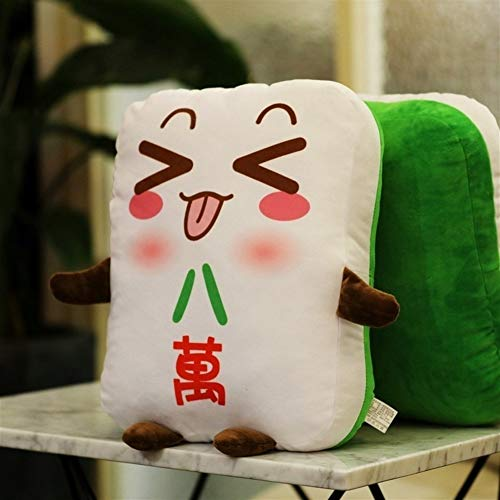 NOBRAND Personalidad Mahjong Almohada diversión Creativa