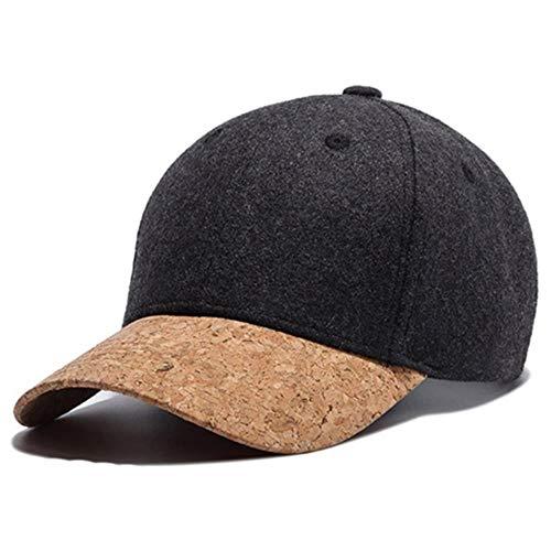 Autumn Cork Fashion Einfache Männer Frauen Hüte Baseball Cap Hip Hop Einfache Classic Caps Winter Warmer Hut, Dunkelgrau