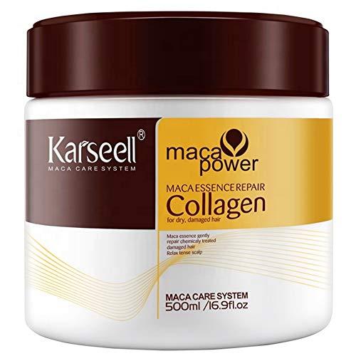 Mascarilla de pelo con aceite de argán Deep Acondicionador Orgánico karseell Colágeno...
