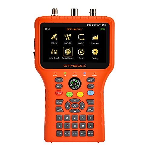 Analizador del espectro de la ayuda del buscador DVB-S2X/S2/S/T2/T/C H.265 del buscador del LCD de 4,3 pulgadas con la brújula