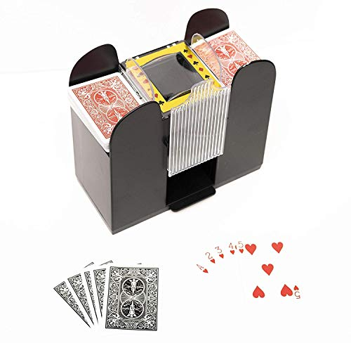 Card Shuffler Automatic 6 Deck Auto Deluxe Machine Mechanical Playing Poker Six Portable Casino Game Silently & eBook