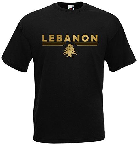 Libanon Lebanon T-Shirt Fanshirt (Schwarz, M)