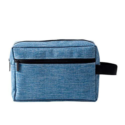 Sac cosmétique Voyage Multifonction Sac de Lavage imperméable à l'eau de Grande capacité poignée élargie Sac de Rangement de Voyage Sac de Lavage (Color : Blue)
