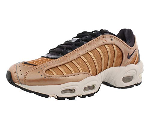 Nike Women's Air Max Tailwind 4 Holiday Sparkle Casual Shoes (7, Metallic Red Bronze/Oil Grey/Half Blue)