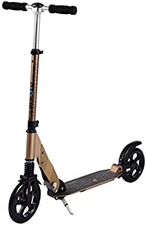 Micro Suspension Scooter 2-Wheeled, Ultra-Smooth Gliding Micro Scooter for Tall/Large Riders, Built-in Patented Suspension System, Ages 13 +, up to 250 lbs - Bronze