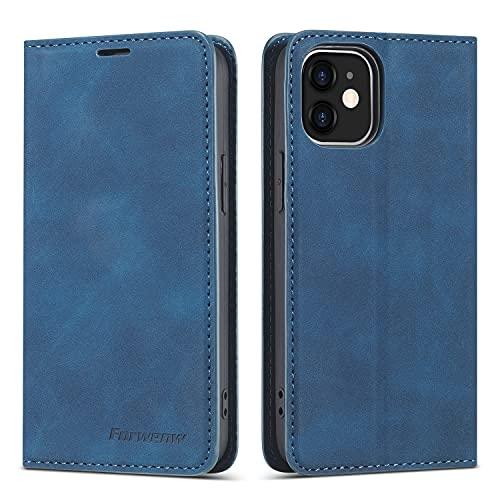 Funda protectora Funda de cartera de cuero PU multifunción para iPhone 12,2 en 1 Funda de tapa de billetera magnética del soporte de la cartera de la cartera de la billetera de la billetera con la fun