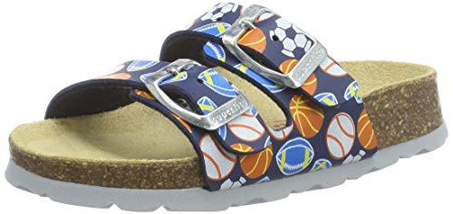 Superfit Jungen FUSSBETTPANTOFFEL Pantoffeln, Blau (Blau 81), 24 EU