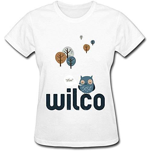 Alternative Rock Band Wilco Tour 2015 Logo T Shirt For Women White