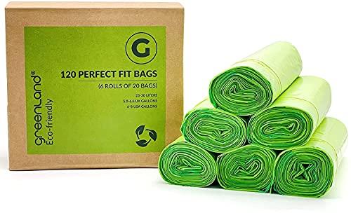 Greenland Bolsas de basura (código G, 120 bolsas, ecológicas)
