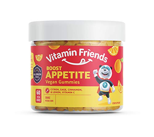 Vitamin Friends All Natural Vegan Children's Appetite Stimulant and Weight Gainer with Boost Appetite Gummies, 1 Pack, 60 Count, Orange Flavor Vitamin