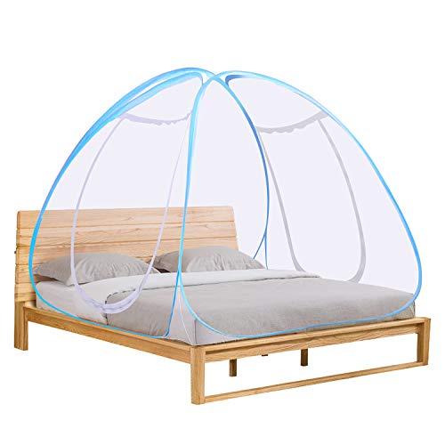 Winload Moskitonetz Bett, Faltbare Mückennetz für Doppelbett, Tragbare Pop Up Fliegennetz Zelt, Doppelter Eingang Reise Insektennetz, Falten Netze für Kinder und Babys Heim Outdoor, 180 * 200 * 150cm