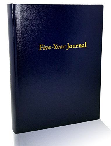 Hard Cover 5 Year Journal | The Easiest to Use Five Year Journal | Quick and Easy Five Year Daily Journal System | 6x8.25 Inch Size (Navy Blue)
