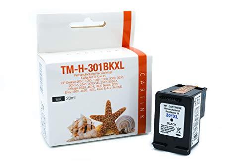 HP 301XL kompatible Druckerpatrone schwarz mit hoher Kapazität für HP Deskjet 1000, 1010, 3000, 1050, 1050A, 1510, 2050, 2050A, 2510, 2540, 3050, 3050A, 3055A, HP Officejet 2620, 4630