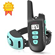 ZRCEAU Dog Training Collar, Rechargable & Waterproof 1500FT Remote Dog Shock Collar with Beep, Vibration and Shock Electronic Collar for Small,Medium and Large Dogs (1.0)