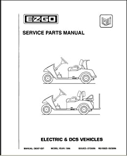 EZGO 28287G01 1996 Service Parts Manual for TXT Electric DCS Vehicles
