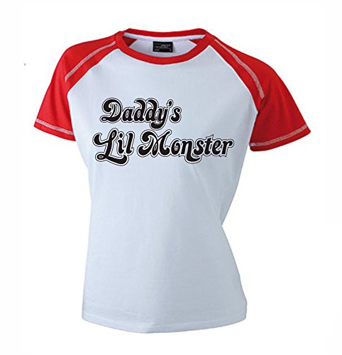 Daddy's Lil Monster Girlie Shirt | Suicide Squad | Harley Quinn | Joker | Held | Fun | Superheld | Vrouwen | Kostuum | Fun | M2