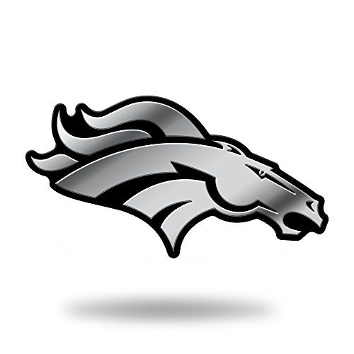 Rico Industries NFL Denver Broncos Chrome Finished Auto Emblem 3D Sticker Denver Broncos Car Decals