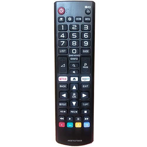 Nuevo Reemplazo Mando a Distancia para LG TV AKB75375608 Ajuste para Mando LG 4K UHD TV 32LK610BPLB 49LK5900PLA 55UK6400PLF 43LK5900PLA 43LK5910PLC 43LK5990PLE 43UK6450PLC 43UK6400PLF