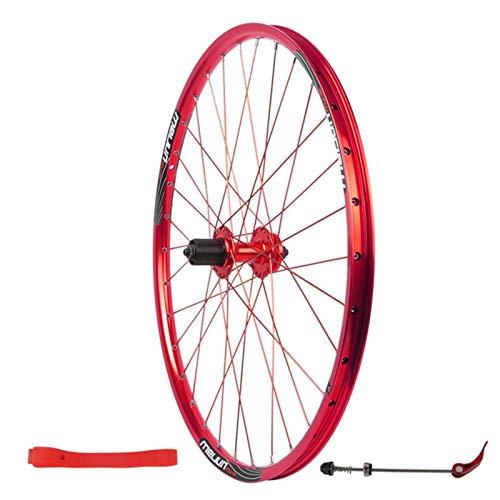 Rueda Trasera de Ciclismo Montaña,Llanta de Doble Pared 32 Hoyos Freno de Disco Volante de 7/8/9/10 Velocidades Bicicleta de 26' Una Sola Rueda (Color : Red, Size : 26inch)