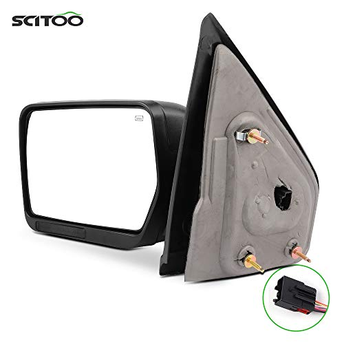 SCITOO For Ford For F150 Towing Mirror with Black Housing Tow Mirror Compatible...