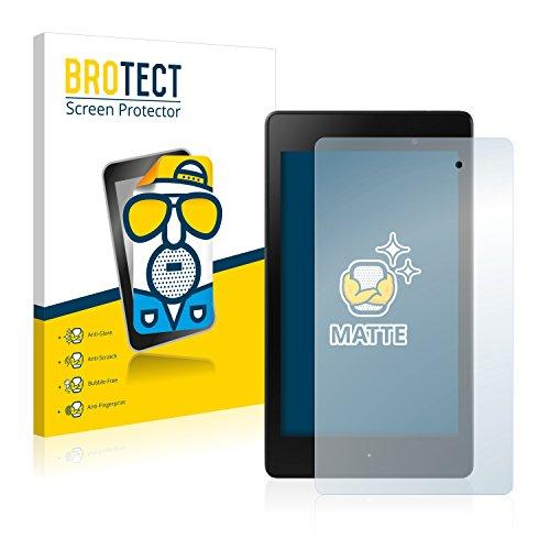 BROTECT Protector Pantalla Anti-Reflejos Compatible con ASUS Nexus 7 Tablet 2 2013 (2 Unidades) Pelicula Mate Anti-Huellas