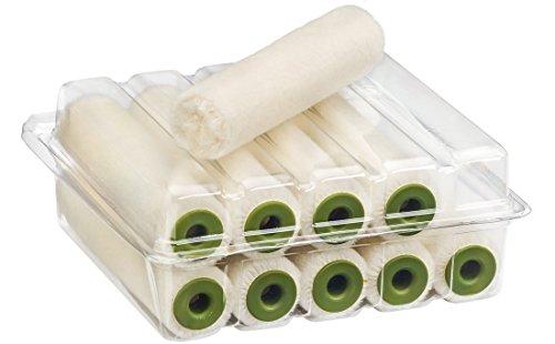 Colorus Lackierwalze Velours lösemittelbeständig 10 cm 4 mm Flor | 10er Pack Lackierrollen für deckende Lacke | Lackwalze für 2K Lacke | Heizkörperroller, Farbwalze Lack | Malerwerkzeug