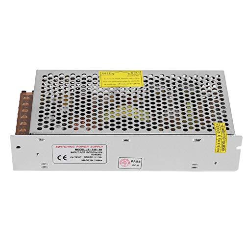 Interruptor de Aleación de Aluminio Adaptador de Controlador de Fuente de Alimentación DC48V Tira de Luz de Pantalla LED Impresora 3D Equipo de Voltaje Medio Bajo(48V/3A/150W) AC110/220V±15%)