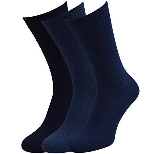 6 Paar Socken Pia RS Harmony Herrensocken ohne Naht Softrand (43-46, Blau-töne)