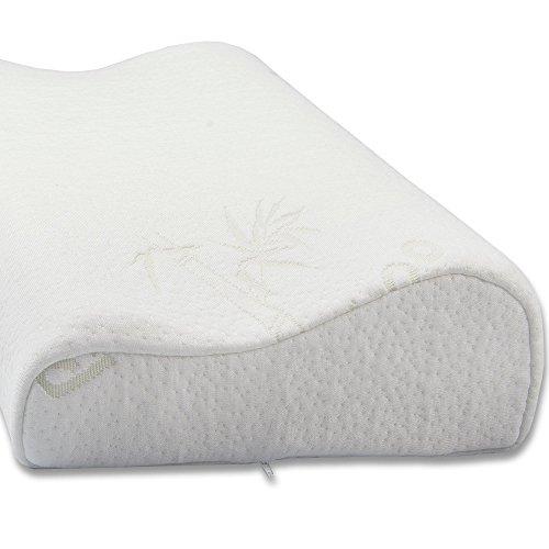 aqua-textil Torrent Viscokissen 50x30x10-7 cm Wellenform Visco Nackenkissen orthopädisches Kissen Gelschaum Kopfkissen