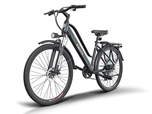 """ESKUTE E-Bike Bici Elettrica 28"""" da Città Citybike Olandese Padalata Assisitita per Adulto Unisex, Batteria Rimovibile al Litio"""