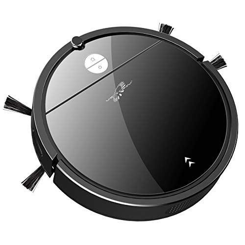 Robot Vacuum, VICTONY Robotic Vacuum Cleaner, Wi-Fi Connectivity, 1650Pa Suction, Self-Charging, Multiple Cleaning Modes, Best for Pet Hairs, Hard Floor & Medium Carpet BL03 (bk)