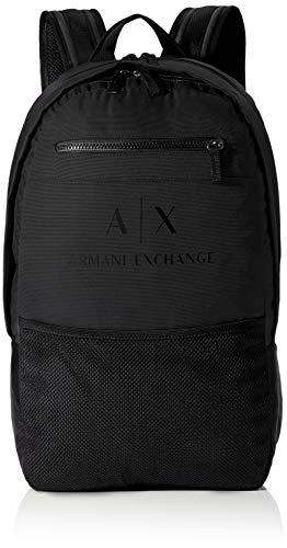 ARMANI EXCHANGE Urban Tech Backpack, Zaino Uomo, Nero, Taglia unica