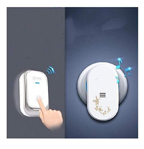Draagbaar en eenvoudig te installeren, draadloze deurbel, zelfvoorziening, afstandsbediening, intelligente draadloze deurbel. Wit