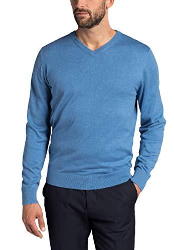 Eterna gebreide trui met V-hals Modern FIT uni lichtblauw
