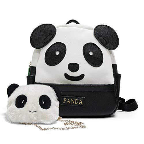 Cute Panda Toddler Backpack Toddler Bag,For 1-6 Year's Baby Girl Boy Preschool Backpack,With a Small Shoulder Bag