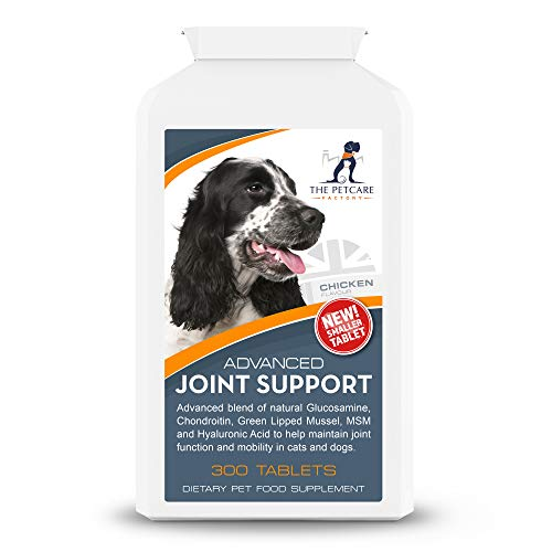 Advanced Joint Support Supplement For Dogs, With Powerful Active Ingredients To Help Naturally Support and Maintain Joint Health, Human Grade Quality, 300 Tablets, UK Manufactured