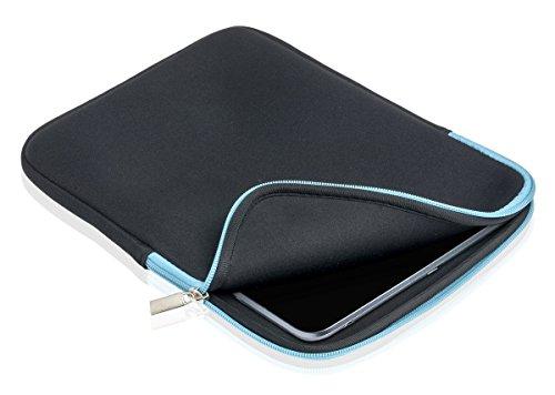 Slabo Tablet Tasche Schutzhülle für Medion eBook Reader OYO 3G Hülle Etui Case Phablet aus Neopren – TÜRKIS/SCHWARZ