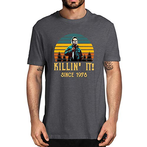 Halloween Michael Myers Killin' It Since 1978 Horror Movie Men's T-Shirt (Dakr Gray,M)